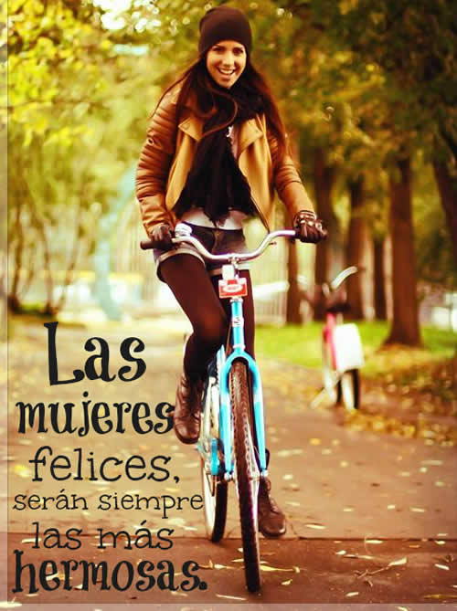 Frases con imagenes: Mujeres felices