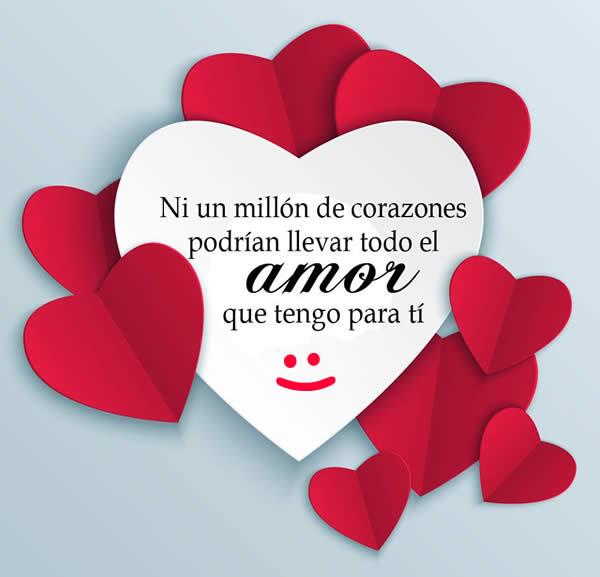 Frases con imagenes: Un millon de corazones