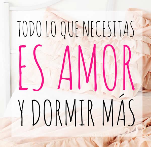 Lo que necesitas es amor