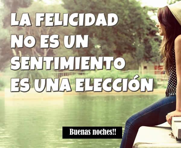 La felicidad no es un sentimiento