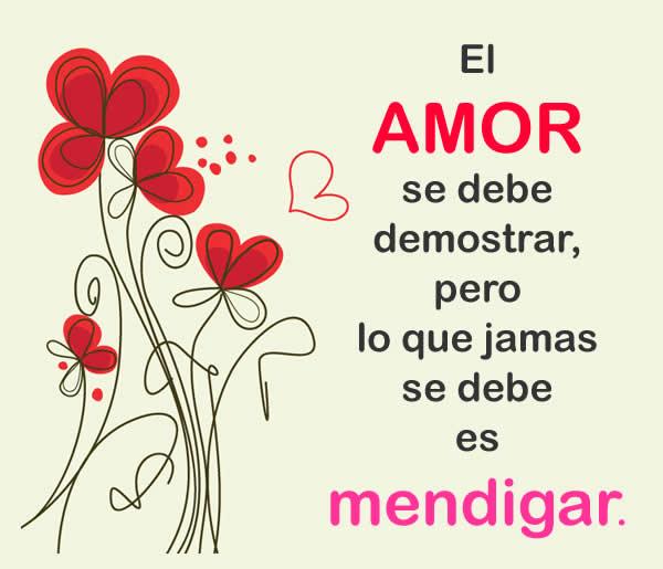 El amor se debe demostrar