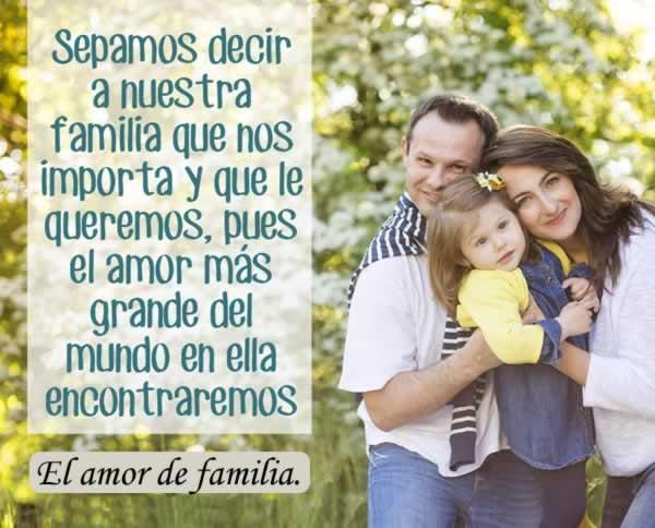 Nuestra familia es amor