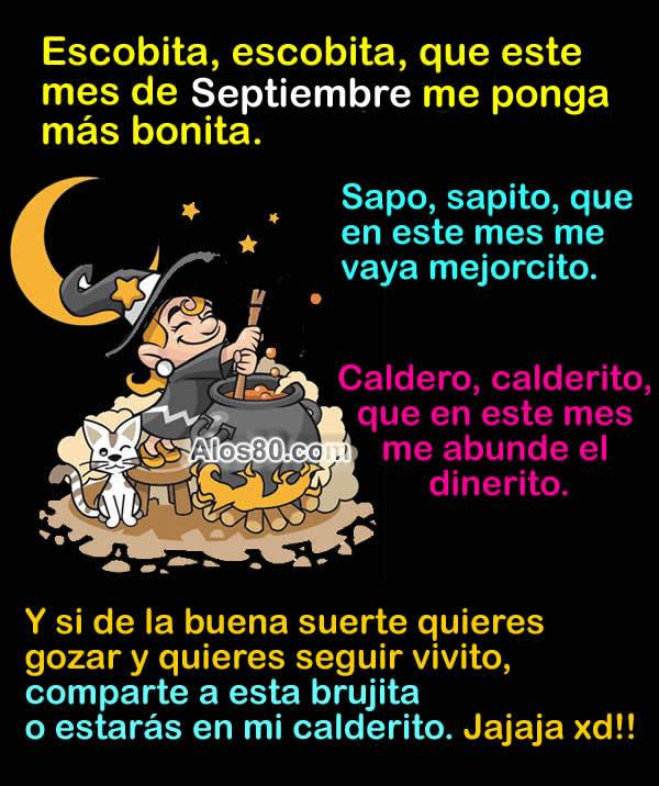 Bienvenido el mes de septiembre