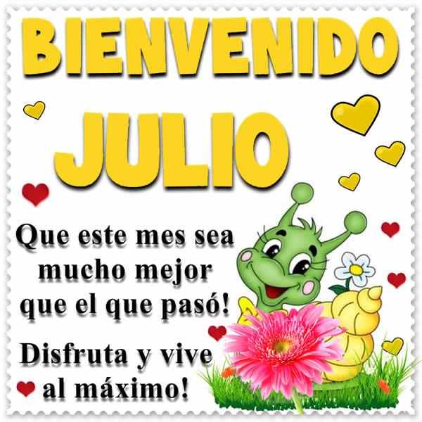 Bienvenido mes de Julio
