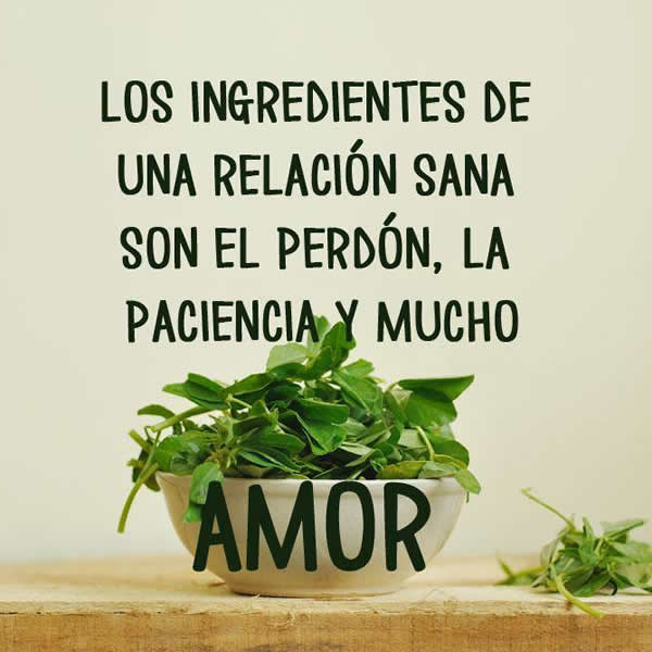 Fotos con frases e ingredientes de amor