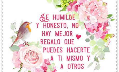 Frases de humildad y honestidad con fotos
