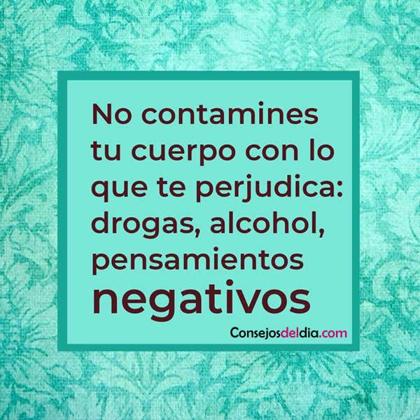 No a los pensamientos negativos