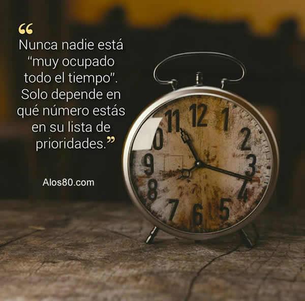 tiempo frases