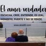 Mensajes bonitos con Fotos de un Amor verdadero