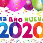 Feliz año nuevo 2020 con imagenes